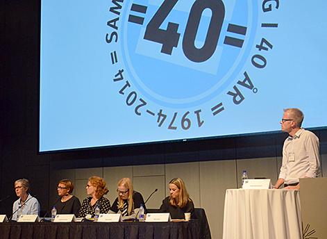 Panel med representanter från insitutioner i Norden som förmedlar forskning om jämställdhet.