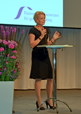 Åsa Regnér. Photo: Jämställ.nu