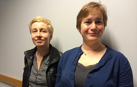 Cathrine Egeland och Ida Drange. Foto: Josefine Alvunger