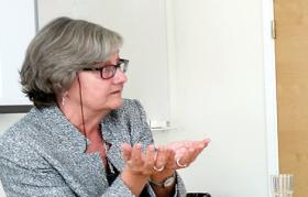 Hege Skjeie, professor vid Universitetet i Oslo, beskrev några utmaningar med intersektionalitetsperspektivet. Foto: Charlie Olofsson