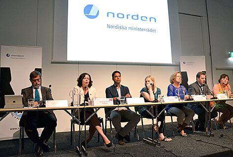 De nordiska jämställdhetsministrarna vid Nordiskt Forum.