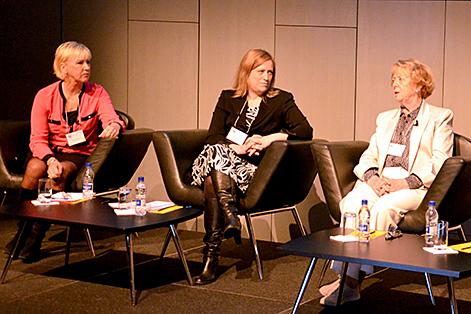 Panelsamtal med Margot Wallström, tidigare EU-kommissionär, Eygló Harðardóttir, Islands jämställdhetsminister, och Vigdís Finnbogadóttir, Islands tidigare president.