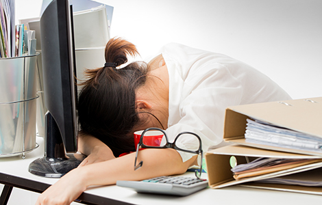 arbetande kvinna stress